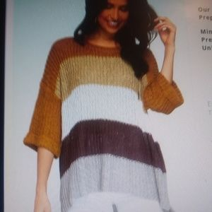 Sweaters - Crew neck 3/4 sleeve fall sweater
